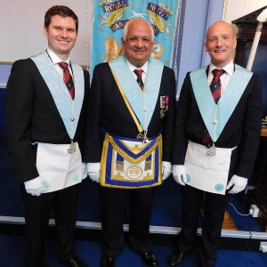 Welcome to our new entered apprentice Bro.Mayer and the passing of Bro.Smith to fellow craft