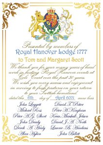 Royal Hanover Social evenings – Outdoors and saying Goodbye to friends of the Lodge